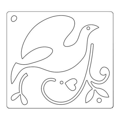 Faca de Corte Sizzix Dove & Holly  - Minas Midias