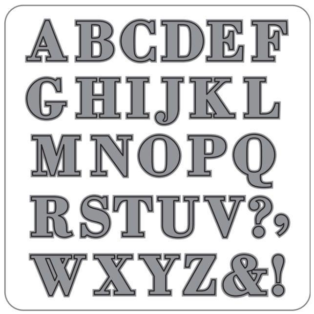 Faca para Corte e Relevo Extra Grande Alfabeto  - Minas Midias