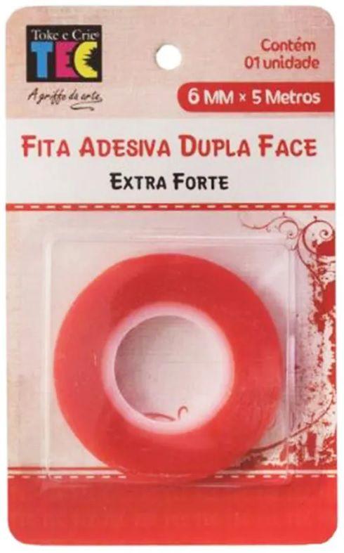 Fita Adesiva Dupla Face Extra Forte 12mm x 5 metros TEC  - Minas Midias
