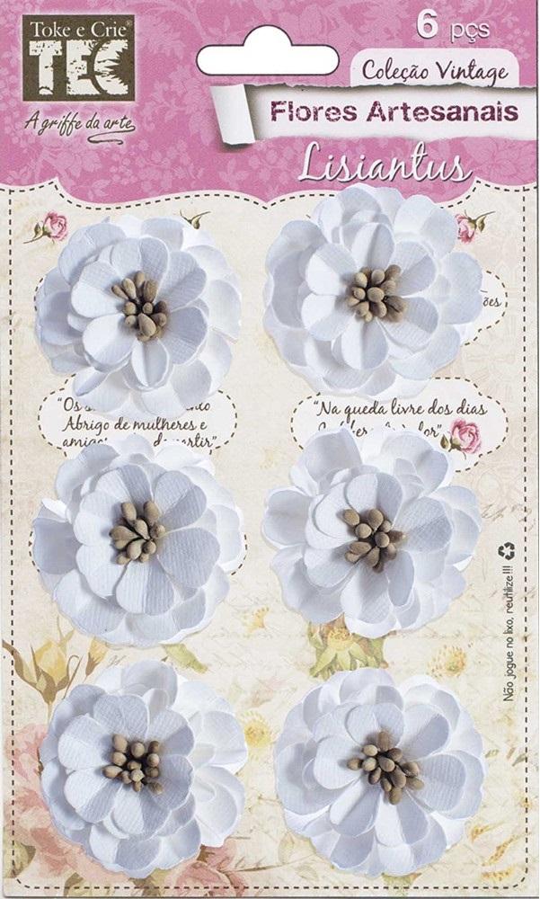 Flores Artesanais Lisiantus Coleção Feito à Mão  - Minas Midias