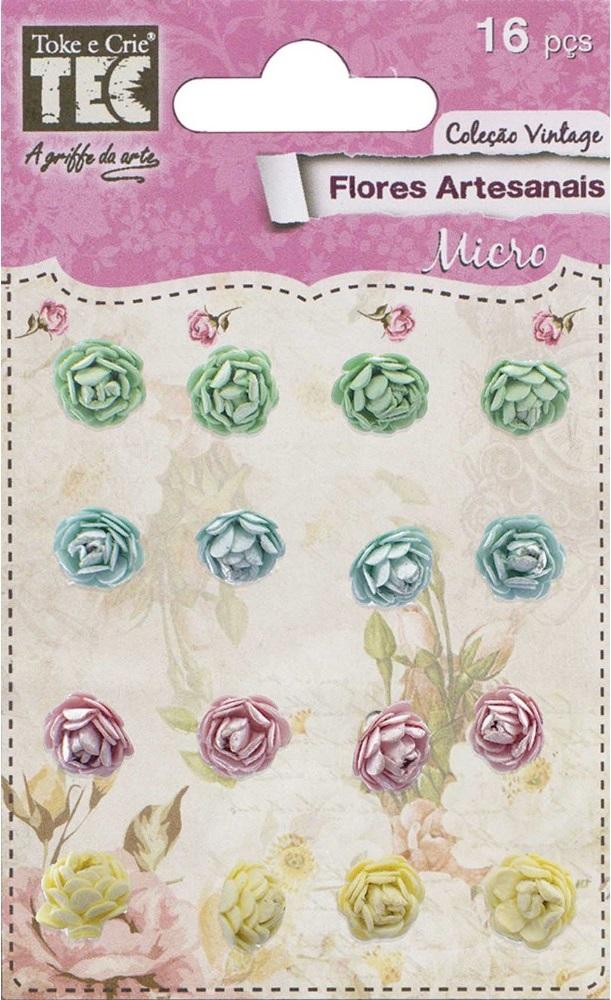 Flores Artesanais Micro Coleção Vintage Feito à Mão  - Minas Midias