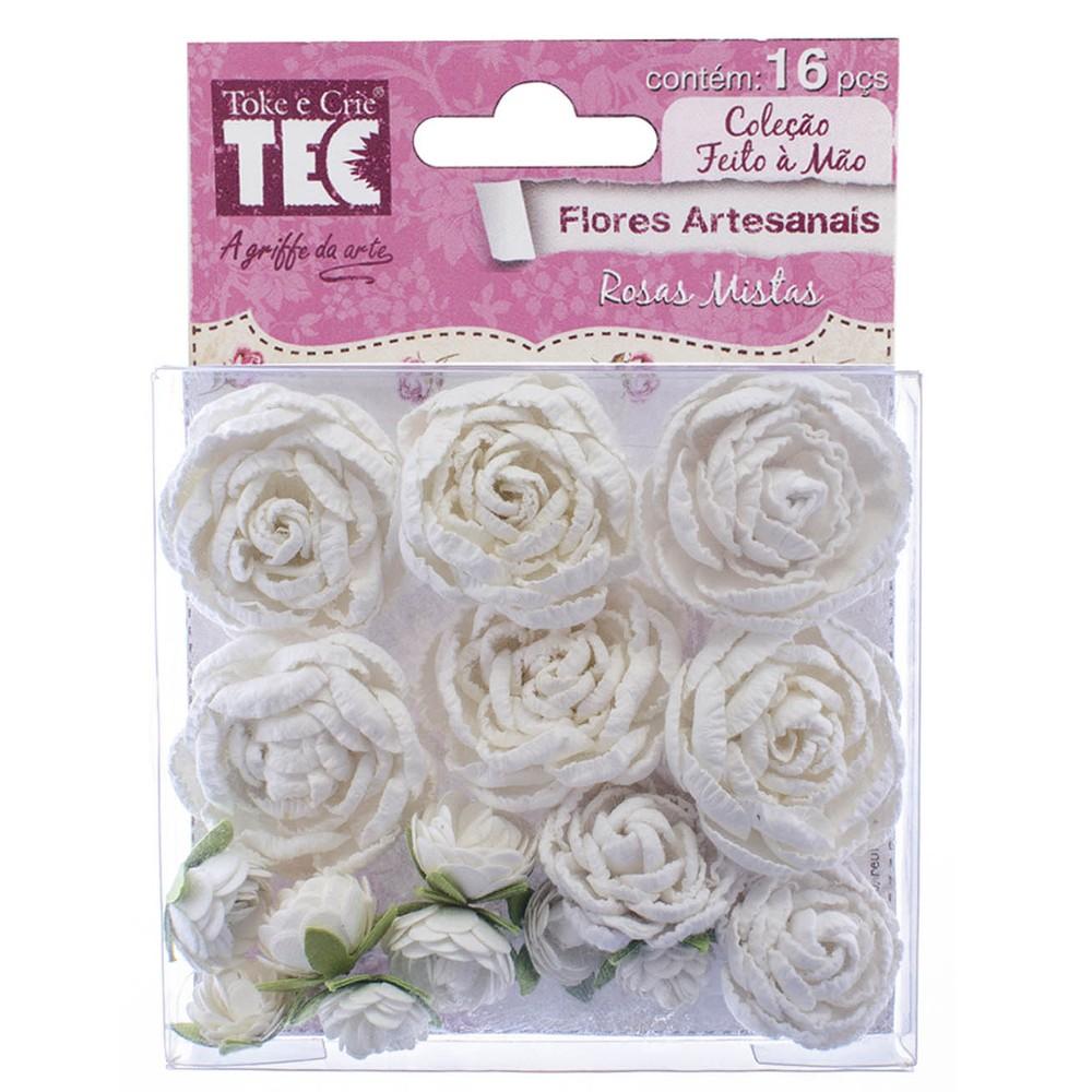 Flores Artesanais Rosas Mistas Coleção FM  - Minas Midias