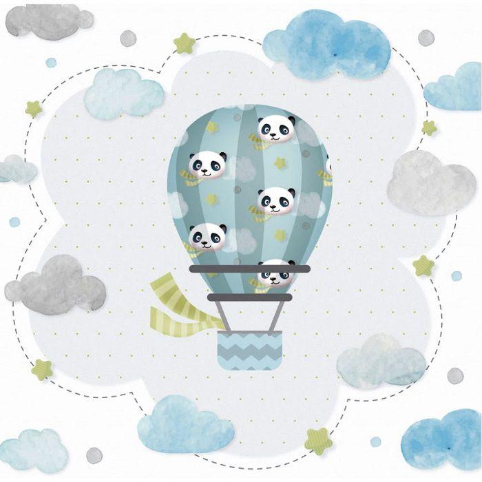 Folha p/ Scrap Dupla Face Baby Panda Viajante - Vinicius Barbosa  - Minas Midias