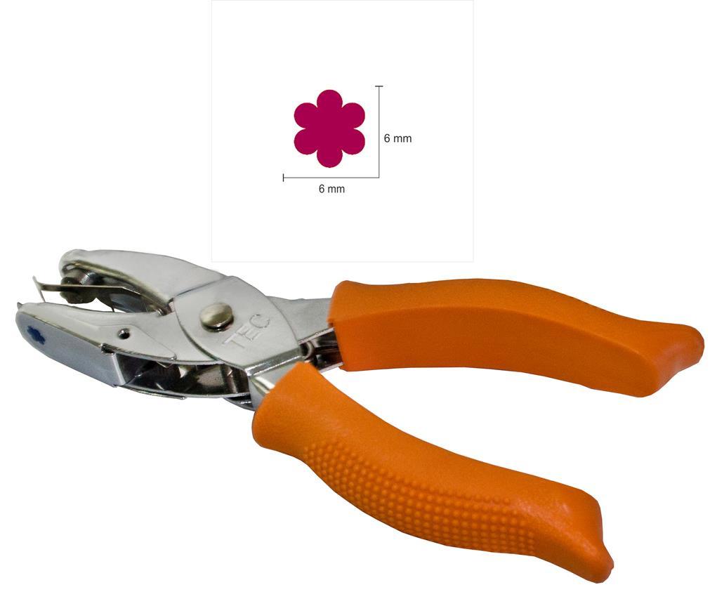 Furador Alicate Flor 6 mm (Papel e EVA)  - Minas Midias