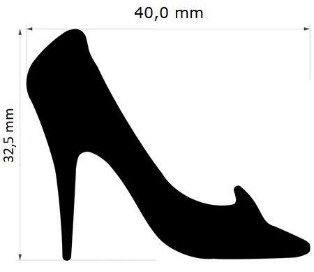 Furador Extra Gigante Sapato Salto Cinderela 4cm  - Minas Midias