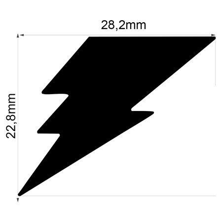 Furador Gigante Premium Relâmpago 2,82 cm  - Minas Midias