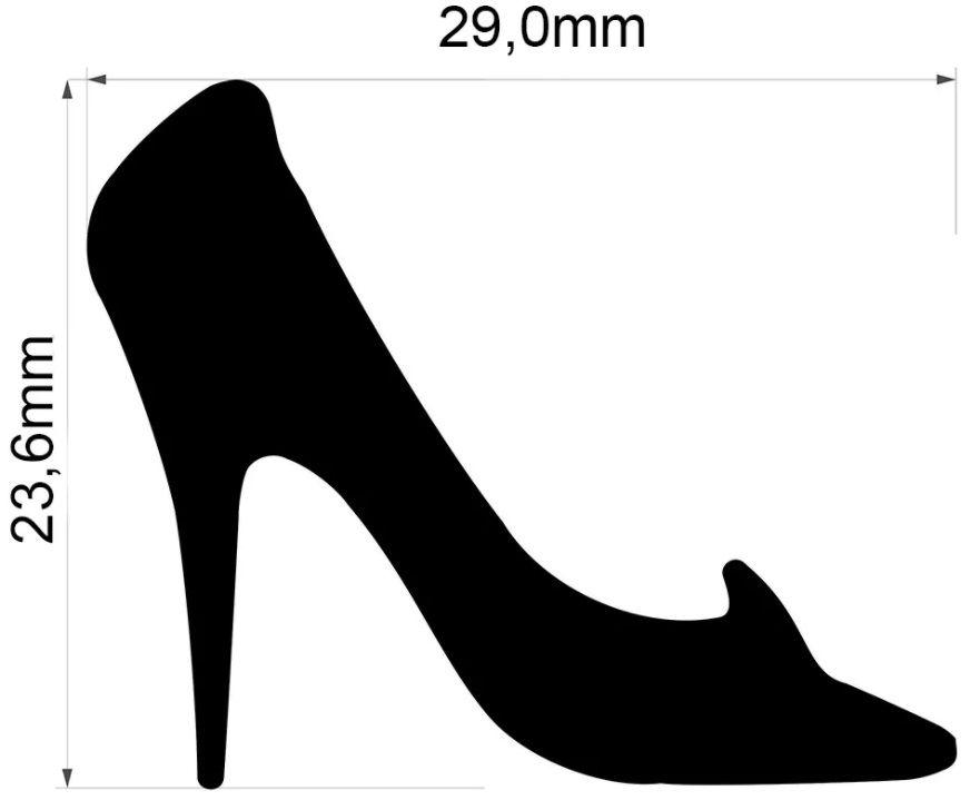Furador Gigante Premium Sapato Cinderela 2,9cm  - Minas Midias