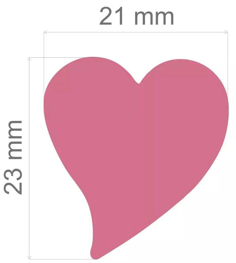 Furador Jumbo Alavanca Papel Coração Delicado 23mm  - Minas Midias