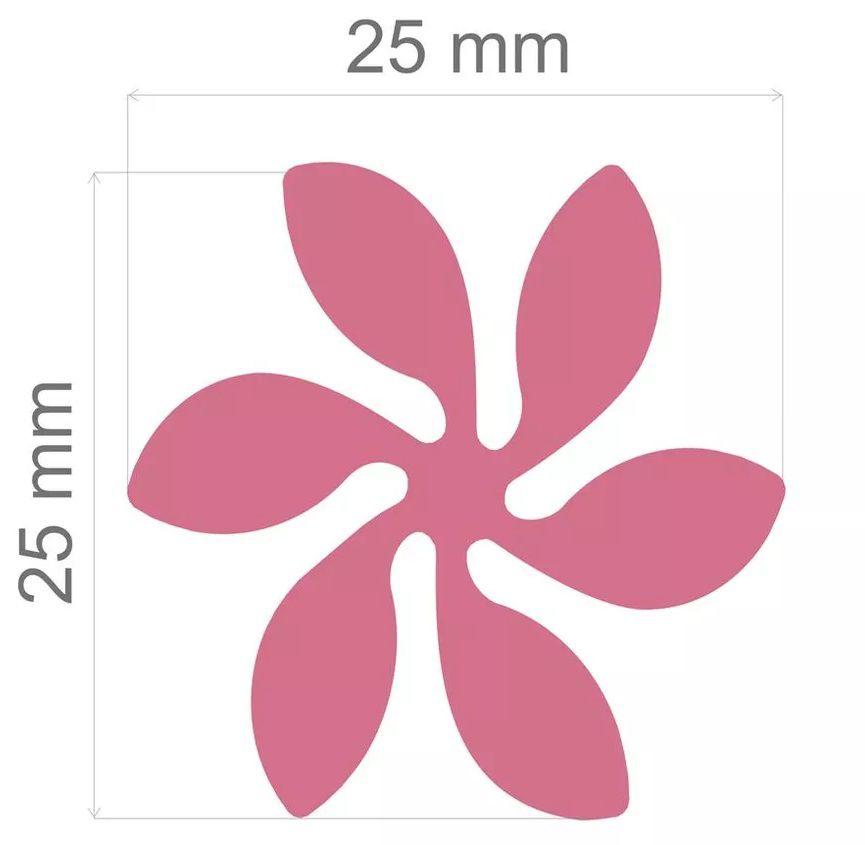 Furador Jumbo Alavanca Papel Flor Redemoinho II 25mm  - Minas Midias