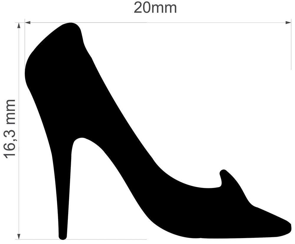 Furador Jumbo Premium Sapato Cinderela 2 cm  - Minas Midias