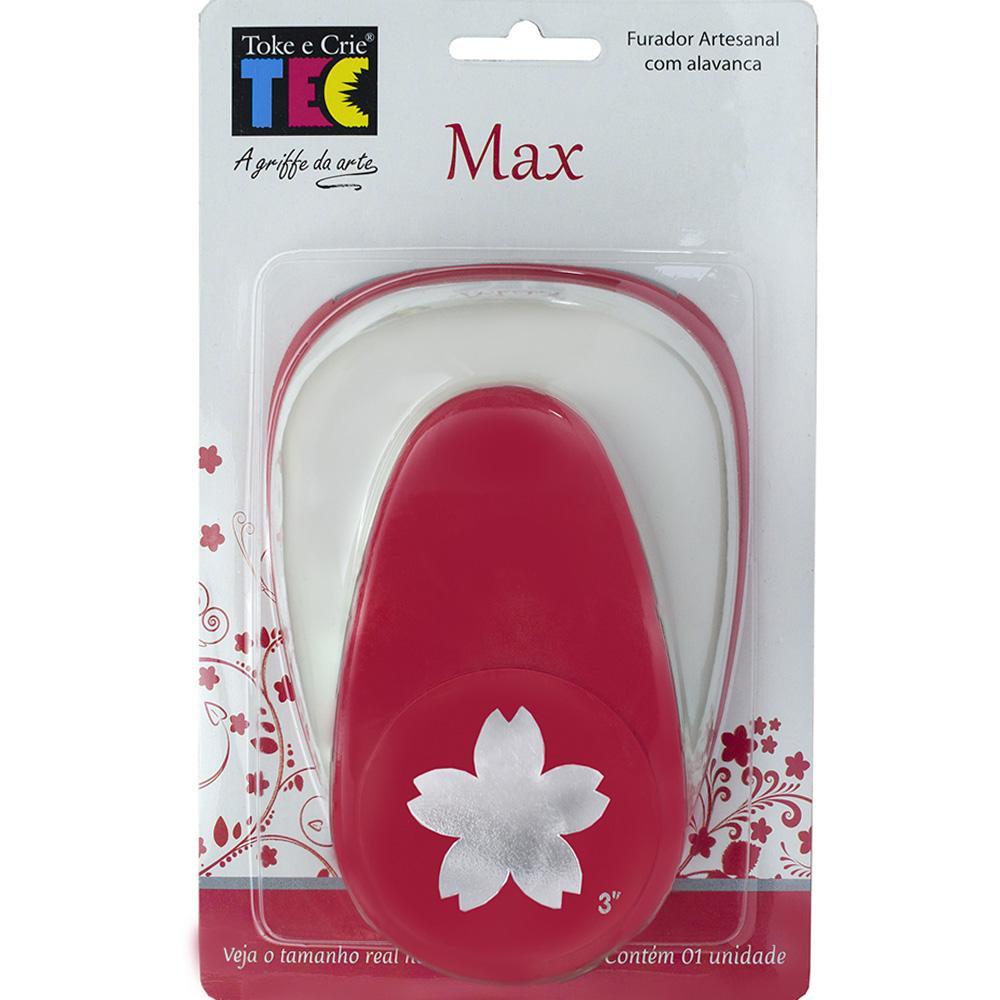"Furador Max Alavanca 3"" Flor Sakura 7,4cm  - Minas Midias"