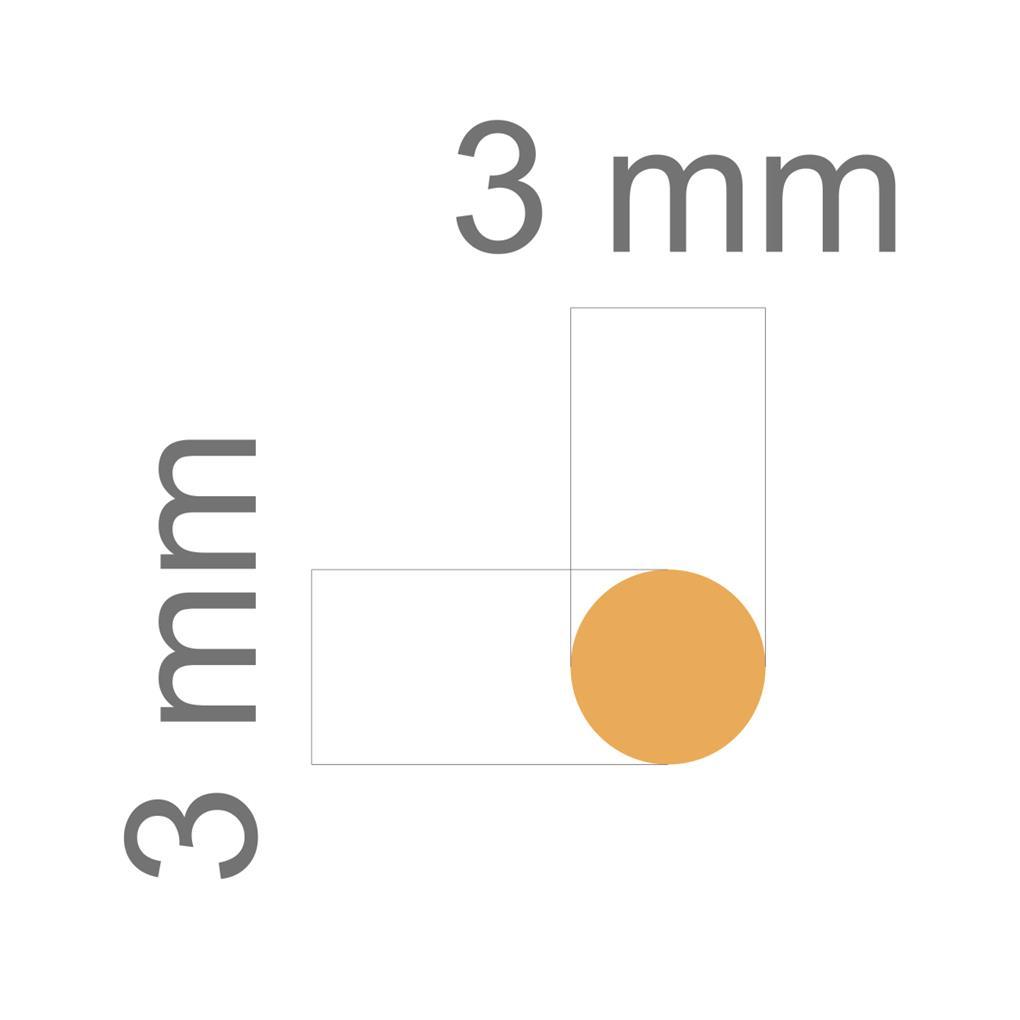 Furador Mini Alavanca (EVA) Circulo 1/8  - Minas Midias