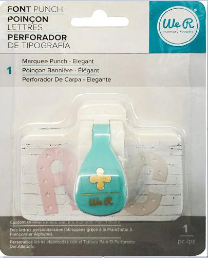 Furador Mini para Custumizar Letras (Elegant Font Punch) We R  - Minas Midias