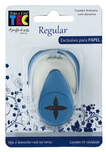 Furador Regular Alavanca (Papel) Brilho  - Minas Midias