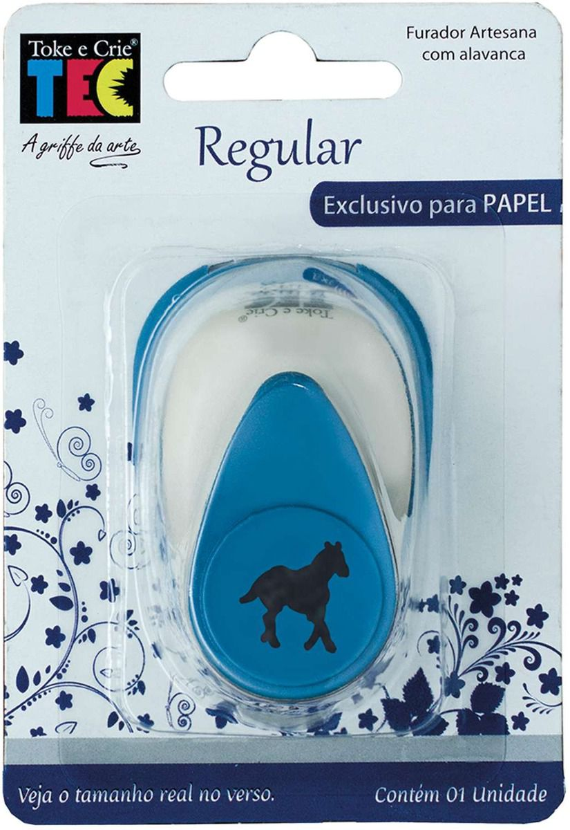 Furador Regular Alavanca (Papel) Cavalo  - Minas Midias