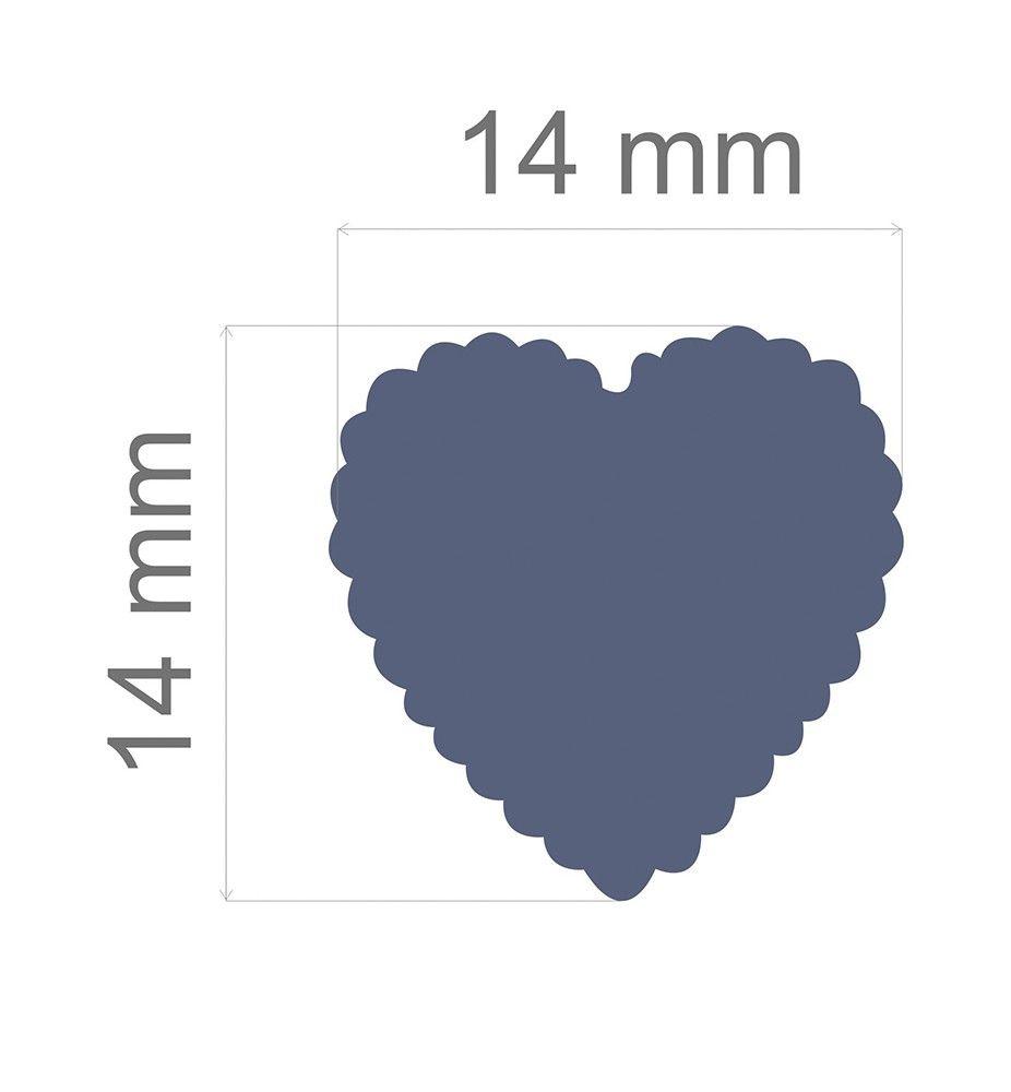 Furador Regular Alavanca (Papel) Escalope Coração  - Minas Midias