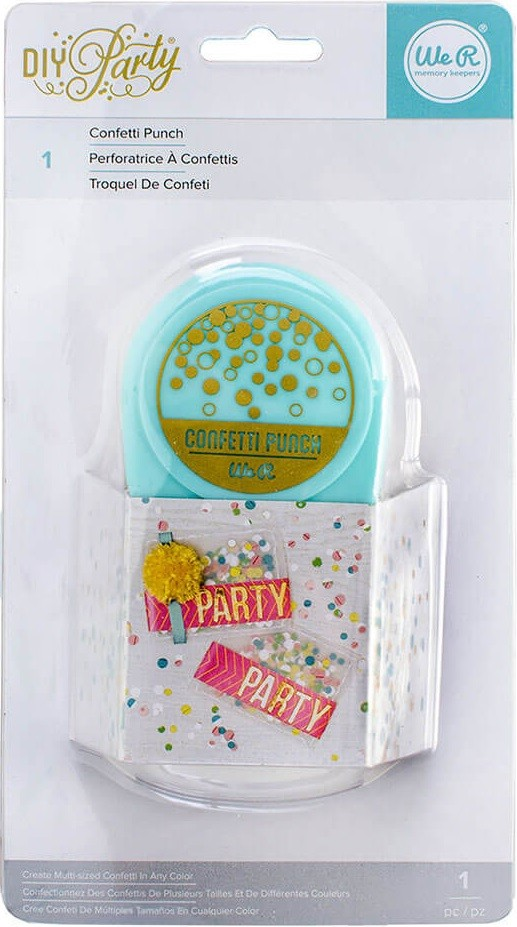Furador Confete - Diy Party Confetti Punch  - Minas Midias