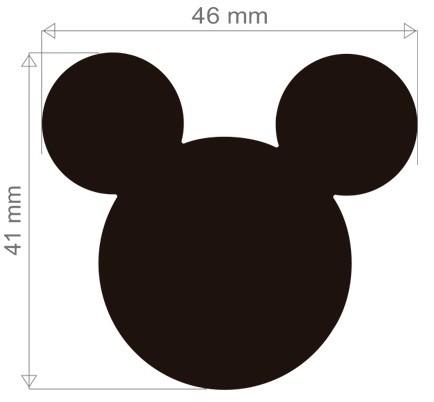 Furador Extra Gigante Premium Disney Cabeça Mickey Mouse  - Minas Midias