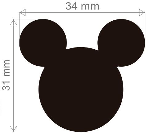 Furador Gigante Premium Disney Cabeça Mickey Mouse  - Minas Midias