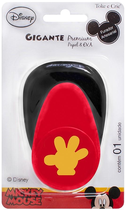 Furador Gigante Premium Disney Mão Mickey Mouse  - Minas Midias