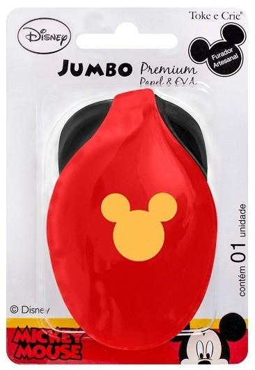 Furador Jumbo Premium Disney Cabeça Mickey Mouse  - Minas Midias