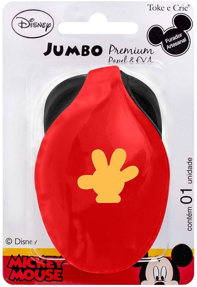 Furador Jumbo Premium Disney Mão Mickey Mouse  - Minas Midias
