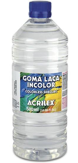Goma Laca Incolor 500ml Acrilex  - Minas Midias