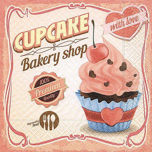Guardanapo para Decoupage - Amor de Cupcake  - Minas Midias