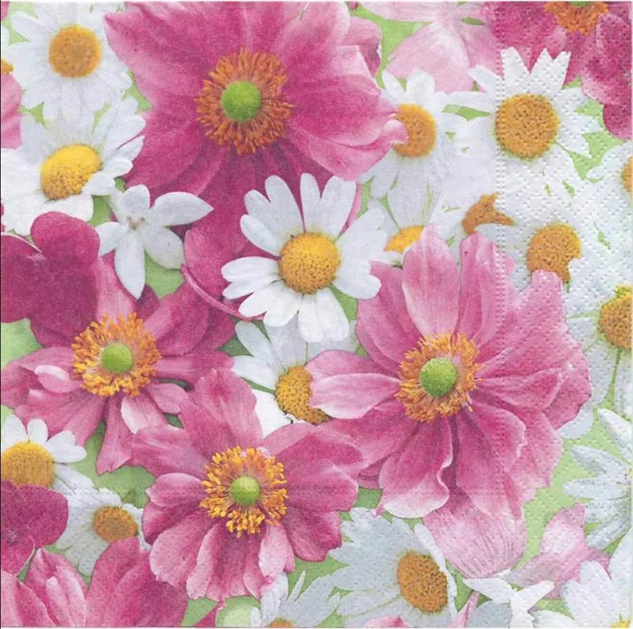 Guardanapo para Decoupage - Flor de Camomila  - Minas Midias