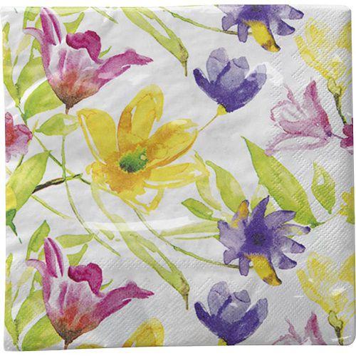Guardanapo para Decoupage - Flores Coloridas I  - Minas Midias