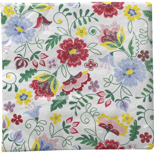 Guardanapo para Decoupage - Flores Estilizadas I  - Minas Midias