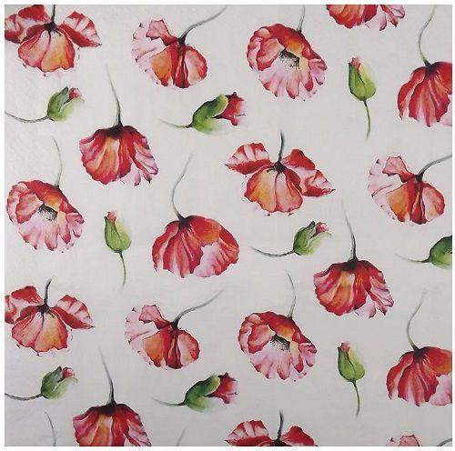 Guardanapo para Decoupage - Flores e Botões  - Minas Midias