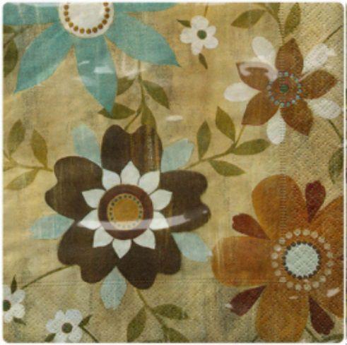 Guardanapo para Decoupage - Flores em Madeira  - Minas Midias