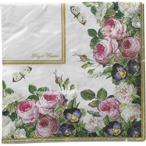 Guardanapo para Decoupage - Flores Nobres I  - Minas Midias