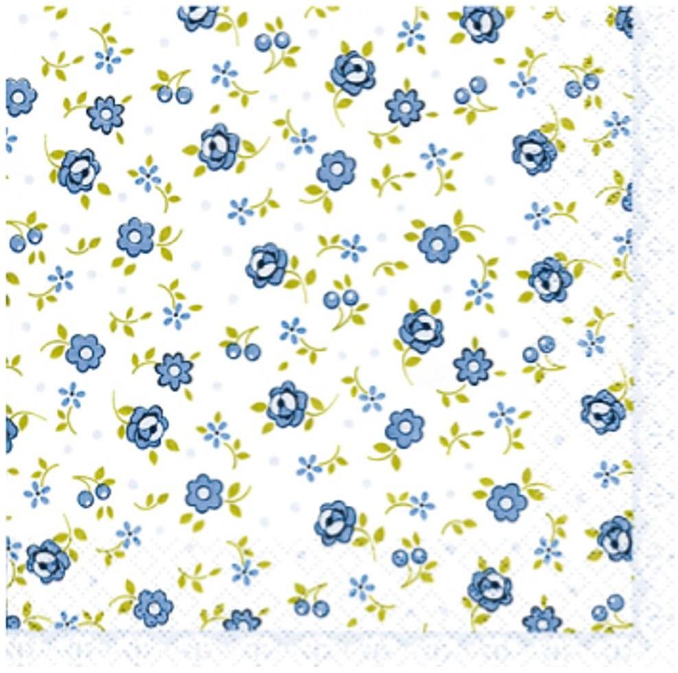 Guardanapo para Decoupage - Florido Azul  - Minas Midias
