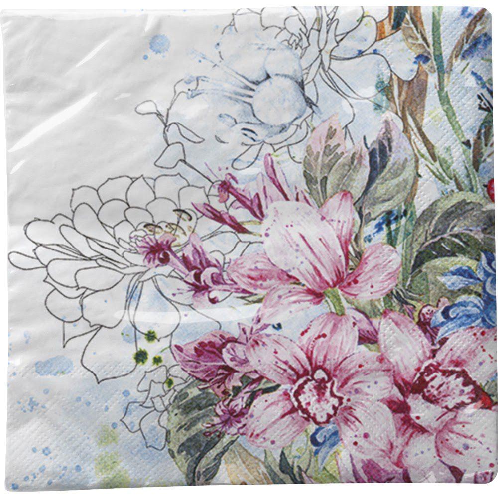 Guardanapo para Decoupage - Orquídeas Coloridas  - Minas Midias