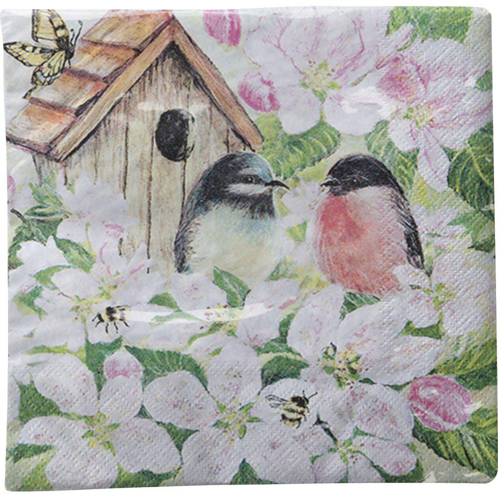 Guardanapo para Decoupage - Pássaros e Flores  - Minas Midias