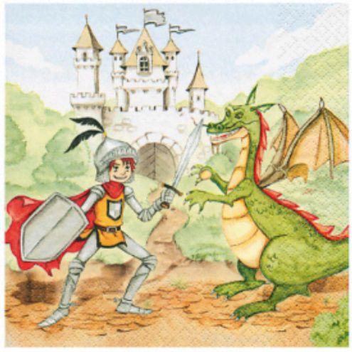Guardanapo para Decoupage - Príncipe e Dragão  - Minas Midias