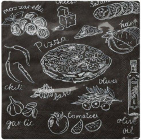 Guardanapo para Decoupage - Sabor de Pizza  - Minas Midias