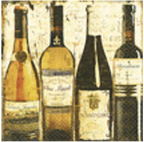 Guardanapo para Decoupage - Vinhos Clássicos  - Minas Midias