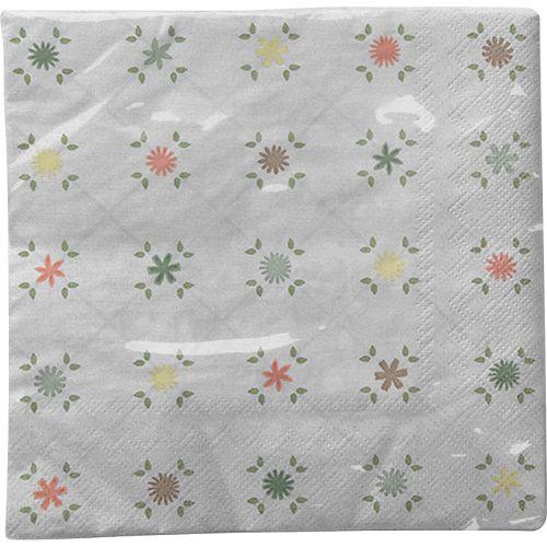 Guardanapo para Decoupage - Xadrez Floral  - Minas Midias
