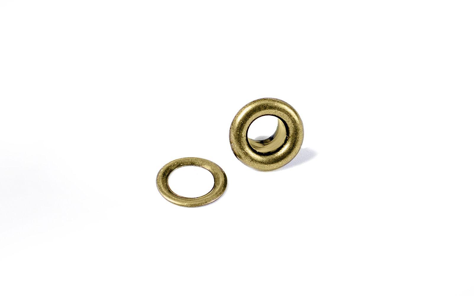 Ilhóses com Arruela Bronze (Eyelet & Washer) c/ 60 peças  - Minas Midias