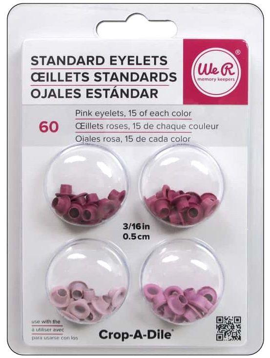 Ilhoses Rosas - Eyelets Wide Pink - 60 pcs  - Minas Midias