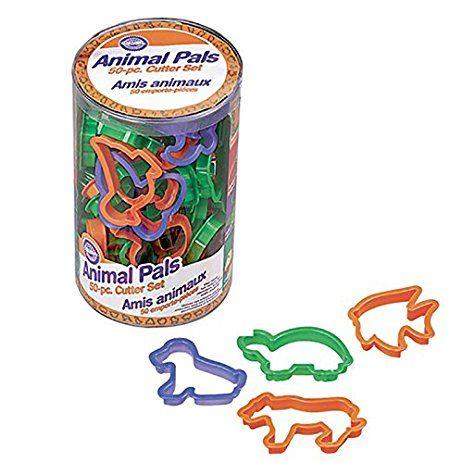 Kit com 50 Cortadores de Animais - Plástico  - Minas Midias