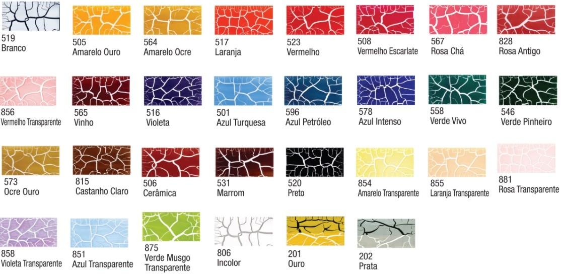 Kit Craquelex Color 2 frascos 37ml  - Acrilex  - Minas Midias
