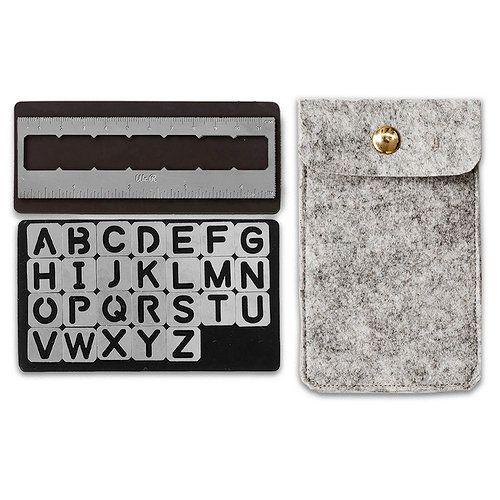 Kit Stencil Magnético Alfabeto Magnetic Alpha Stencils We R  - Minas Midias