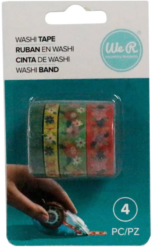 Kit Washi Tapes Floral c/ 4 un We R  - Minas Midias