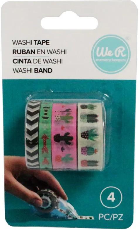 Kit Washi Tapes Suculentas  c/ 4 un - We R  - Minas Midias
