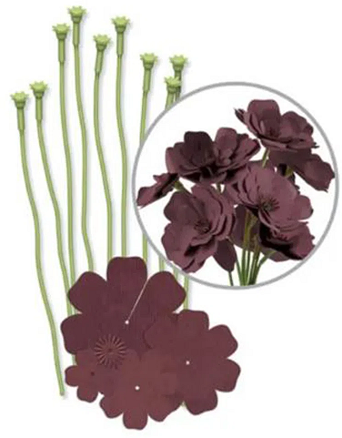 kita para Fazer Flores Marrom - Brown Crepe Paper flower kit We R  - Minas Midias
