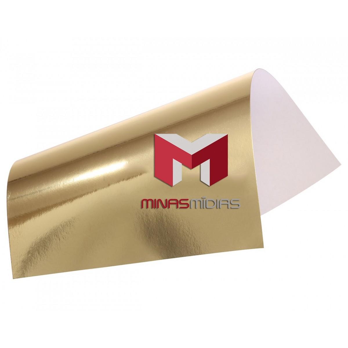 Papel Lamicote Ouro 255g 30,5 x 30,5cm  - Minas Midias